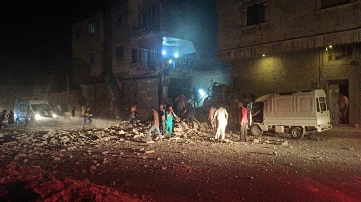 Suriye'nin kuzeyindeki Bab ilçesine hava saldırılarında 1 kişi öldü, 11 kişi yaralandı