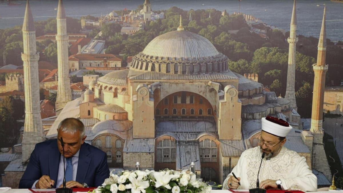 Ayasofya Camii için imzalar atılmıştı: Protokolün detayları belli oldu