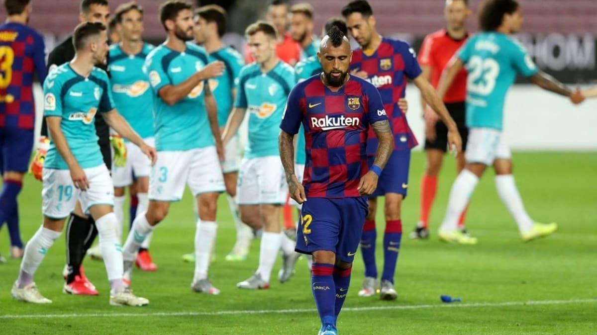 Barcelona'ya bir darbe de Osasuna'dan geldi