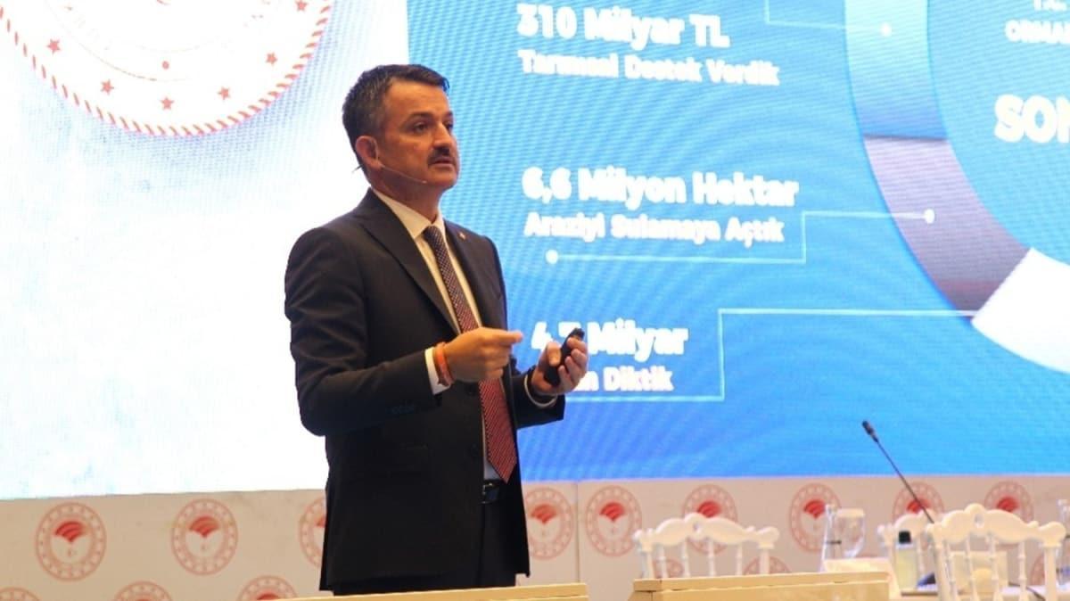 Bakan Pakdemirli'den CHP'ye sert tepki: Vermişler genel başkanın eline yanlış rakamları söyletiyorlar