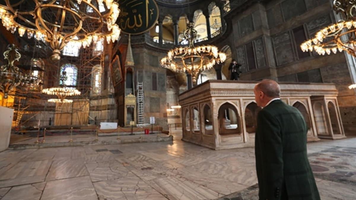 Başkan Erdoğan'dan Ayasofya talimatı! İşte o halı