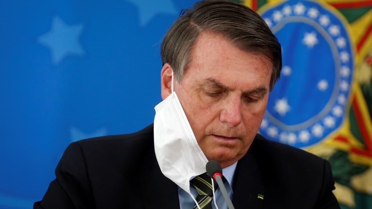 Brezilya Devlet Başkanı Bolsonaro'nun üçüncü Kovid-19 testi de pozitif çıktı