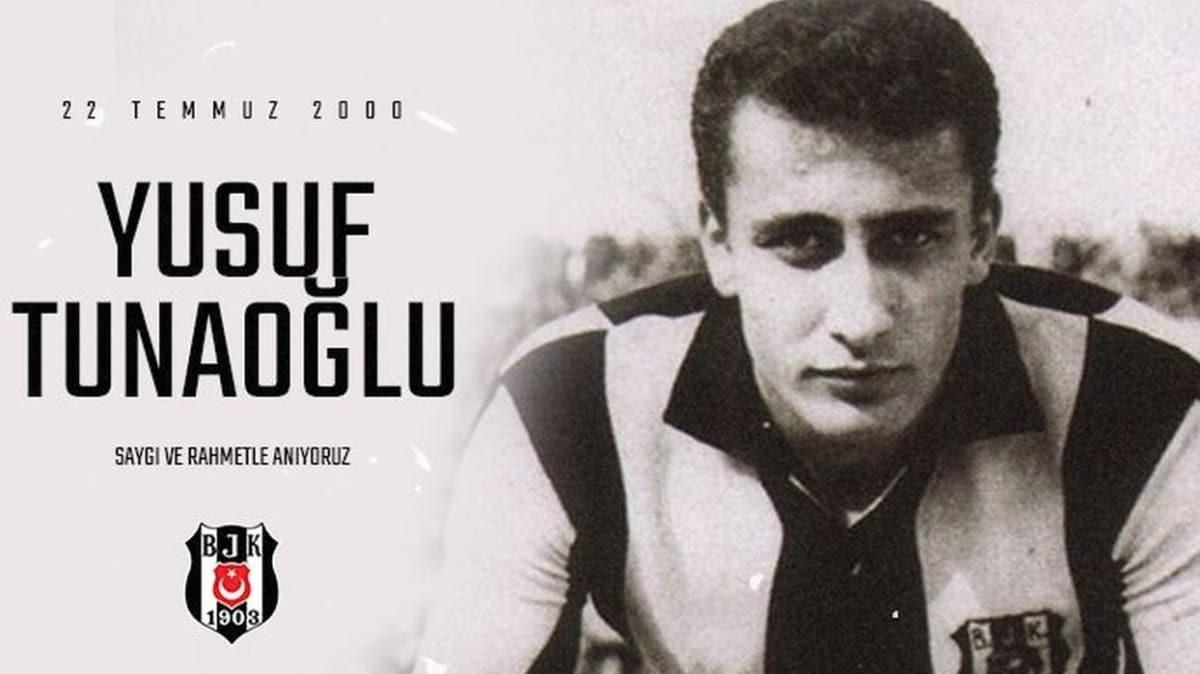 Beşiktaş'ın unutulmaz futbolcularından Yusuf Tunaoğlu, kabri başında anıldı