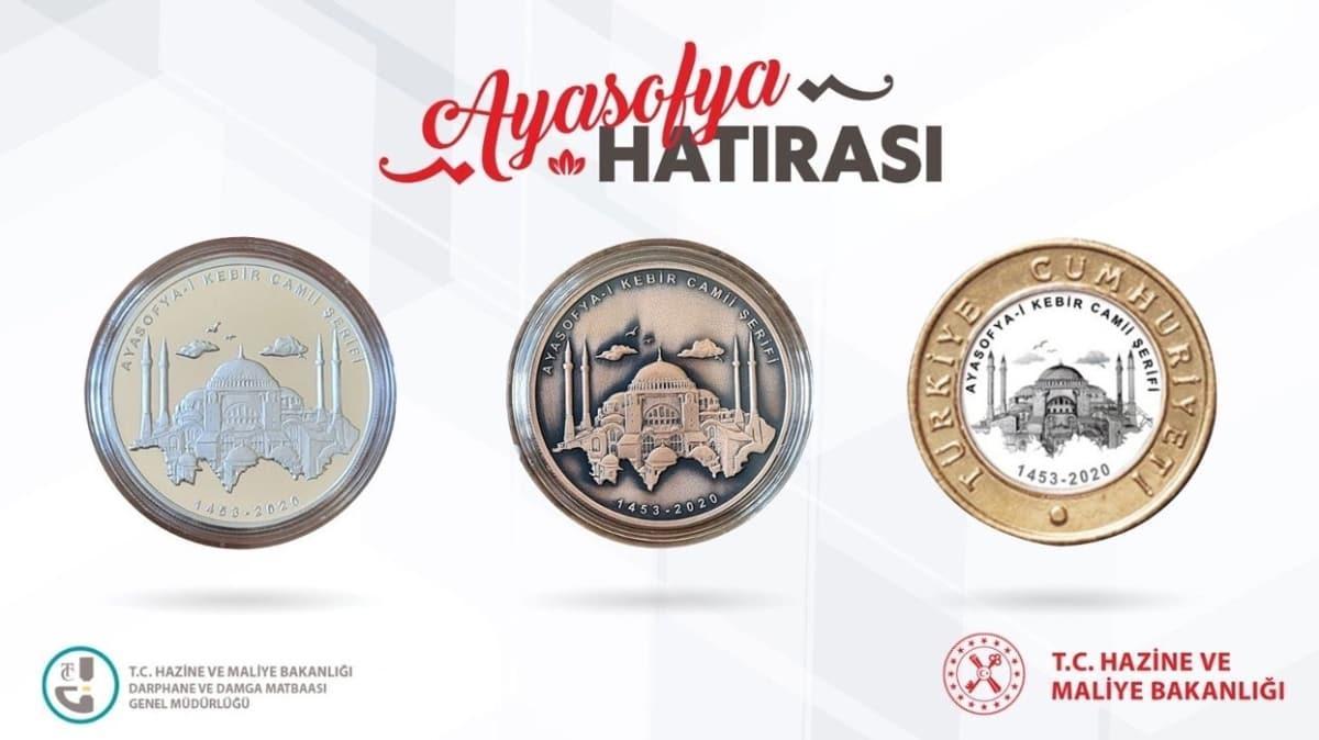 Bakan Albayrak paylaştı... Ayasofya Camii'ne özel para