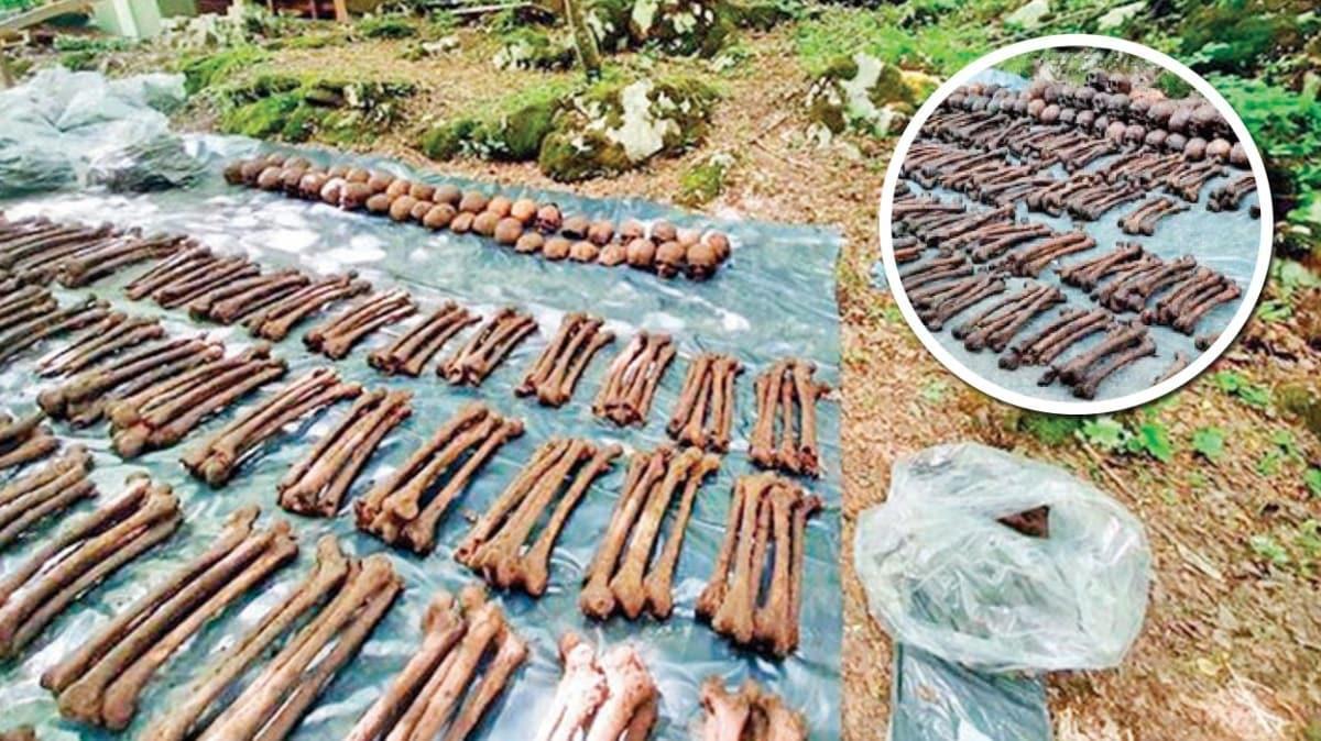 Savaştan kalma toplu mezar! 814 kişinin kemik kalıntısı bulundu