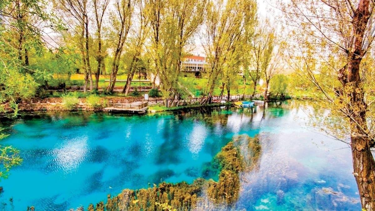 """""""Doğal akvaryum"""" olarak adlandırılan Gökpınar Gölü turizme kazandırılıyor"""