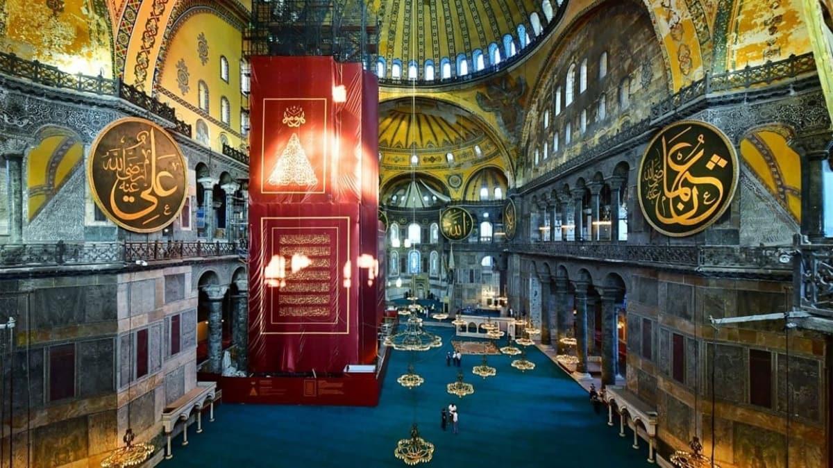 İstanbul Valisi Yerlikaya: Ayasofya Camii içerisine alımlara başladık