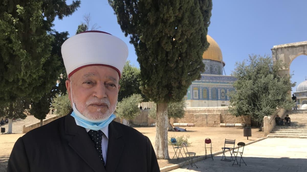 Kudüs ve Filistin Müftüsü Şeyh Hüseyin'den Ayasofya tebriği