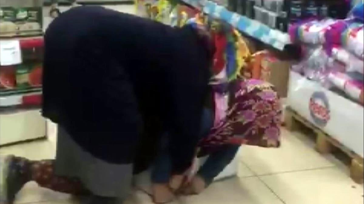 Konya'da iki kadın düdüklü tencere için birbirine girdi