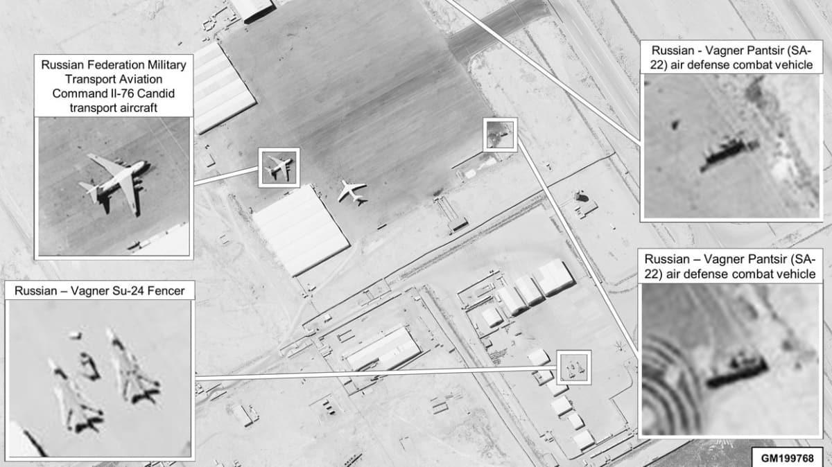ABD uydu fotoğraflarını yayınladı... Libya'da Rus Wagner'e yakın takip!