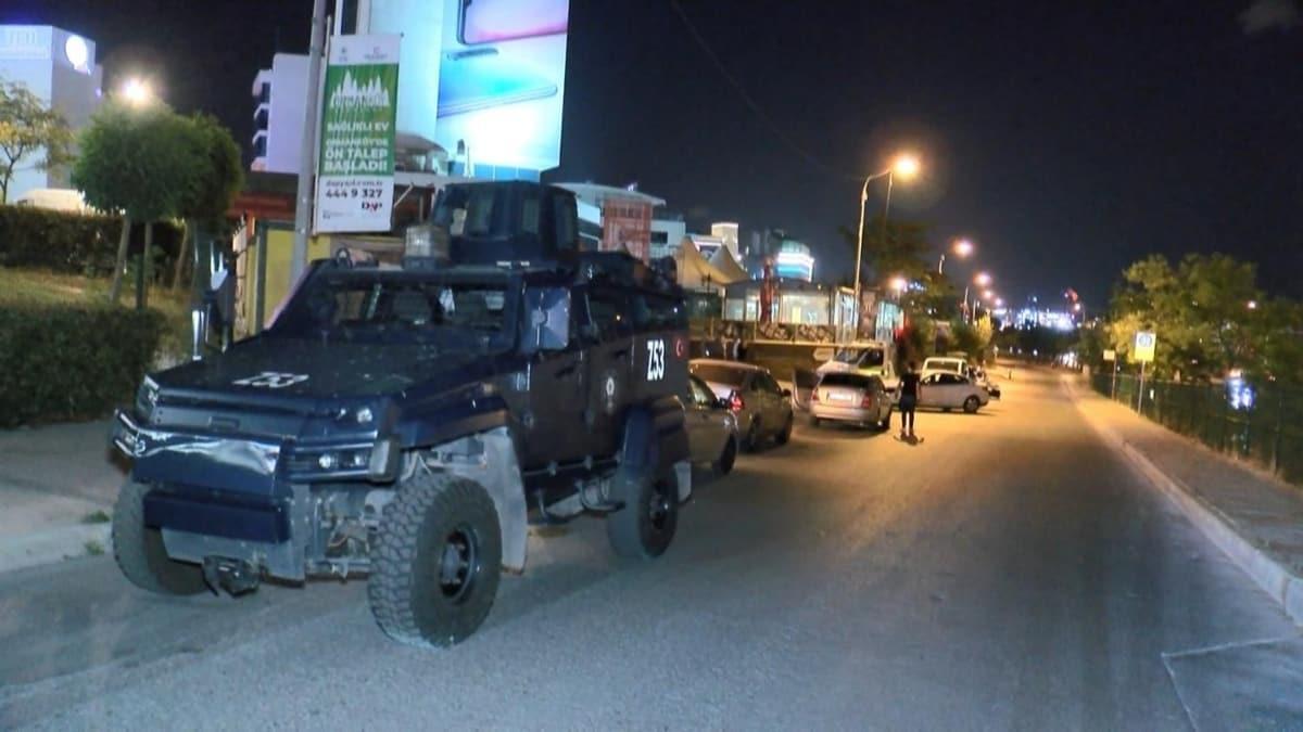 Maltepe'de polise ateş açıldı: 10 gözaltı