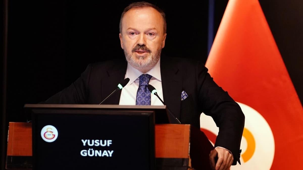 Yusuf Günay: Galatasaray yarıştığı her alanda şampiyon olamazsa başarısızdır