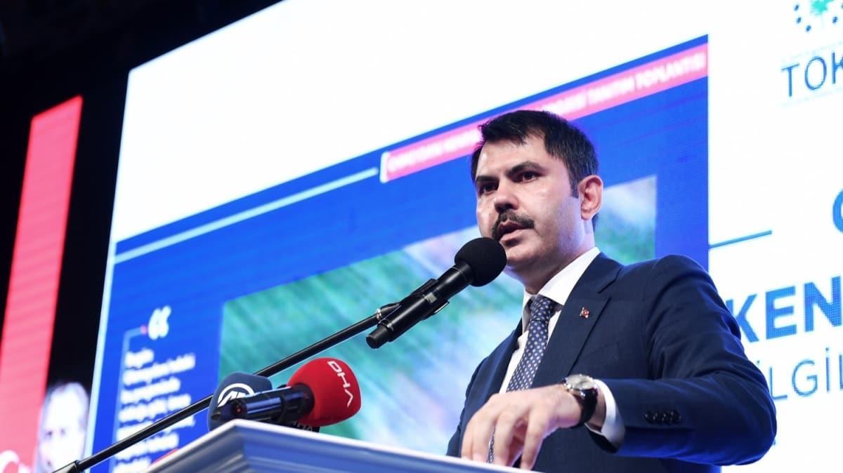 Bakan Kurum, Okmeydanı Kentsel Dönüşüm Bilgilendirme Toplantısında konuştu