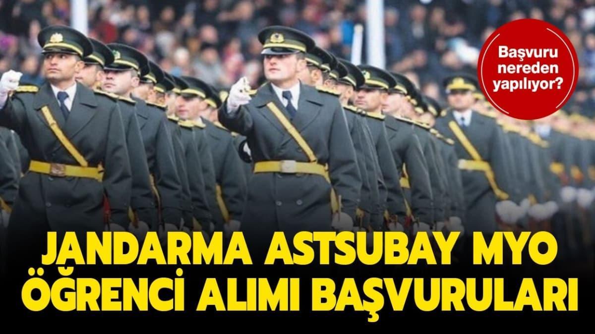 """Jandarma Astsubay MYO başvuruları ne zaman yapılacak"""" Başvuru şartları ne"""""""