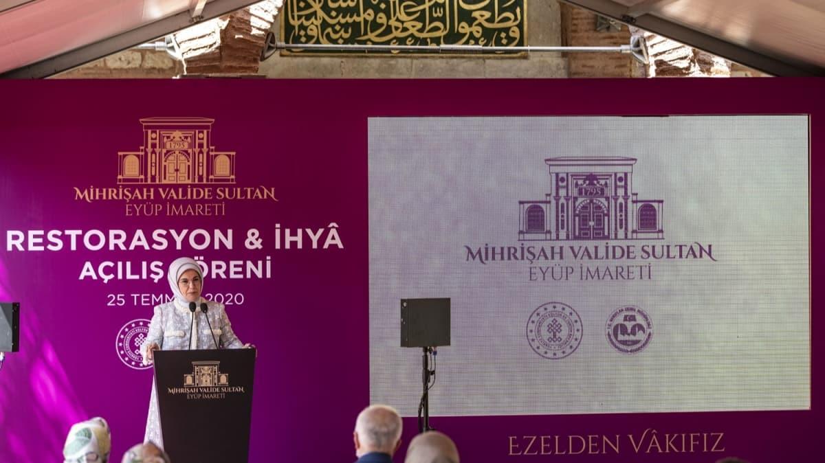 Emine Erdoğan restorasyonu tamalanan imaretin açılış törenine katıldı