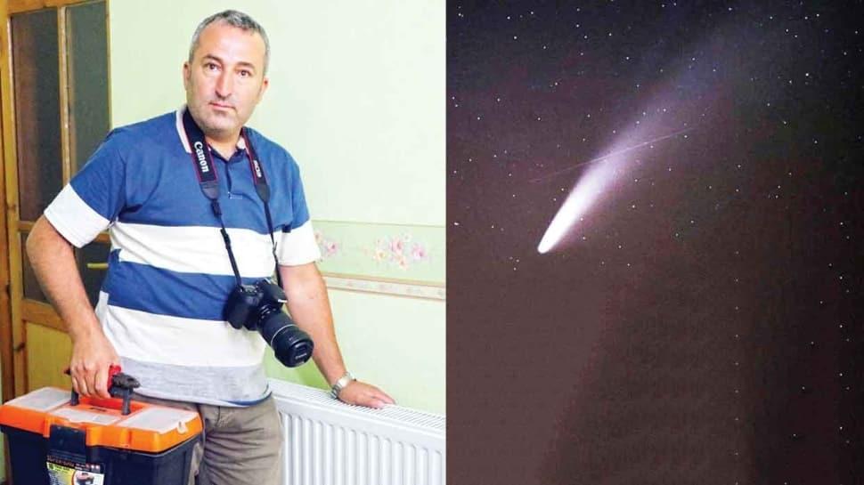 'Neowise'liyi meteorla aynı karede çekti