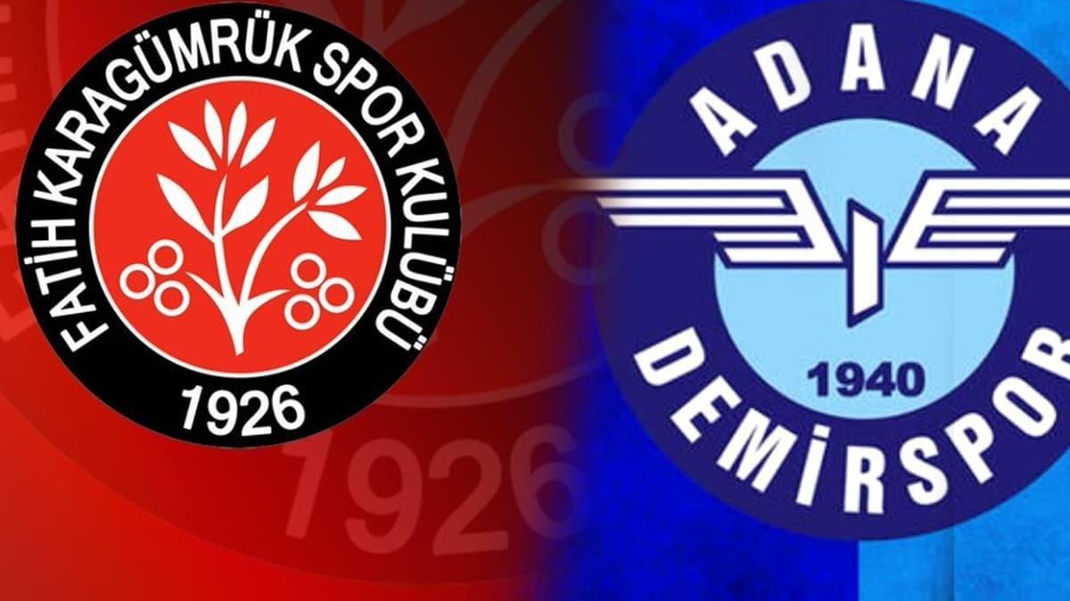 Süper Lig'e son bilet için finalin adı belli oldu: Adana Demirspor-Fatih Karagümrük SK