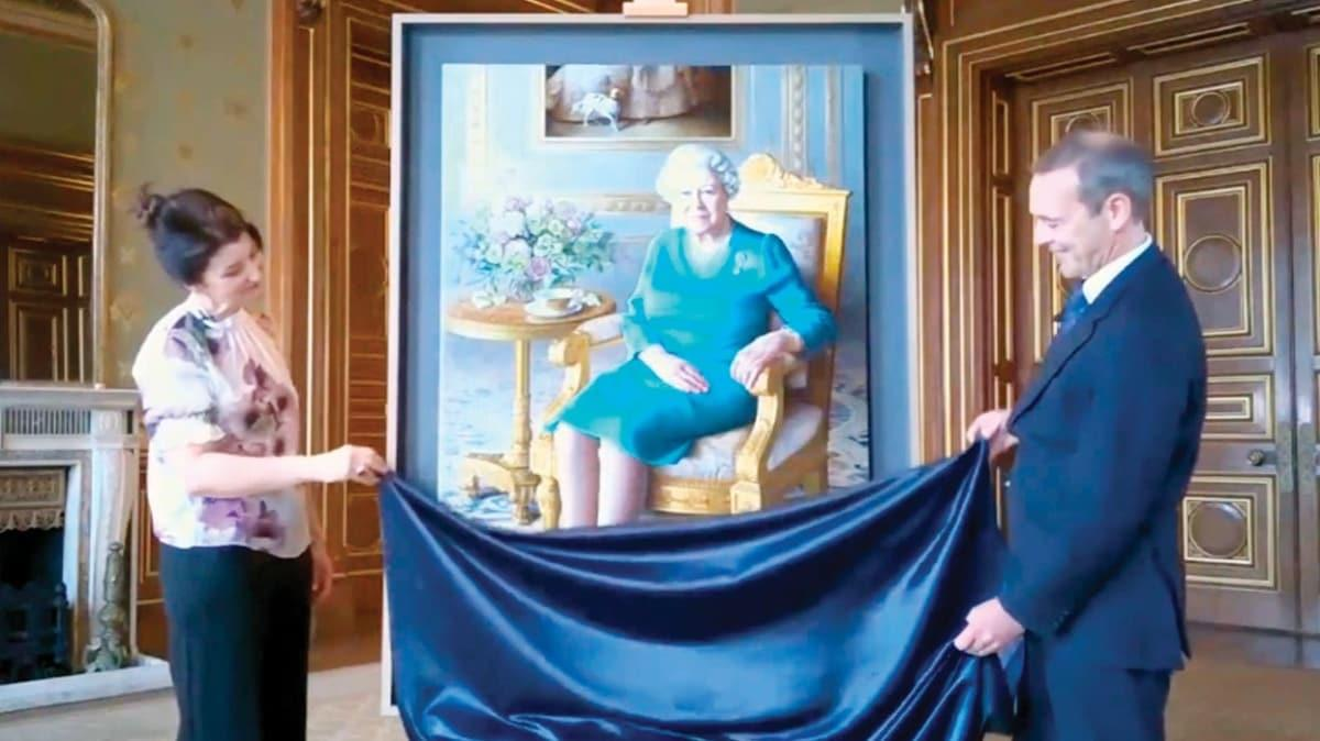 Kraliçe Elizabeth'in tablosuna online açılış