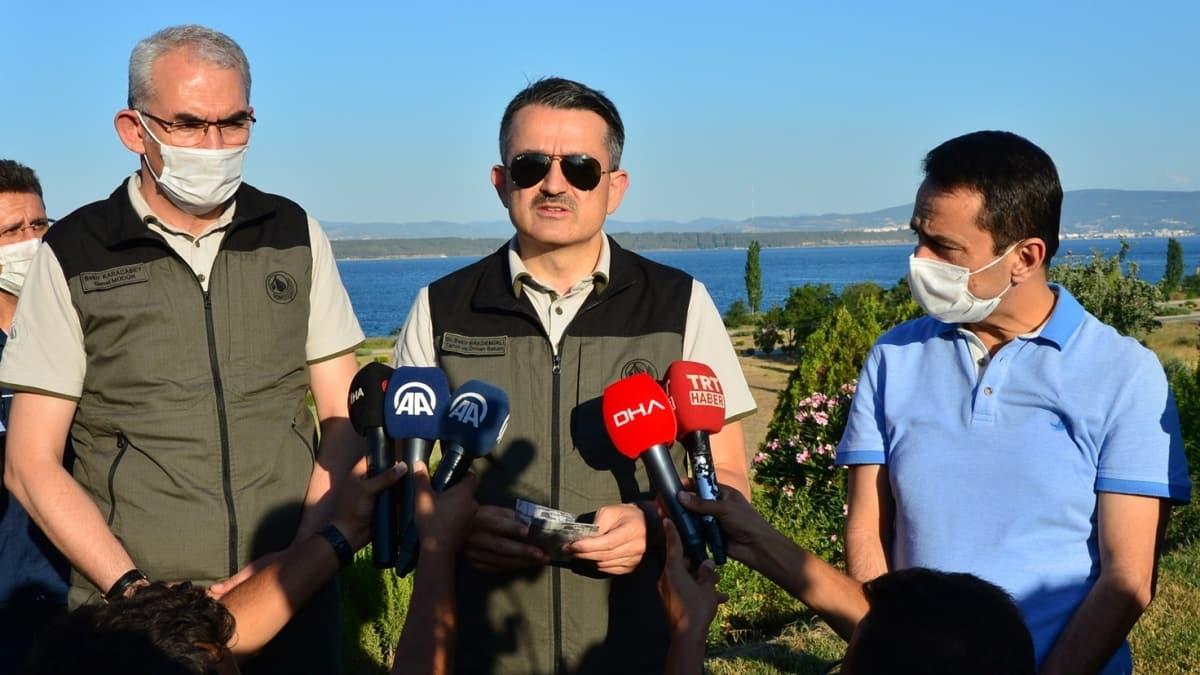 Son dakika haberi: Tarım ve Orman Bakanı Pakdemirli açıkladı: Çanakkale'deki yangınların hepsi kontrol altında