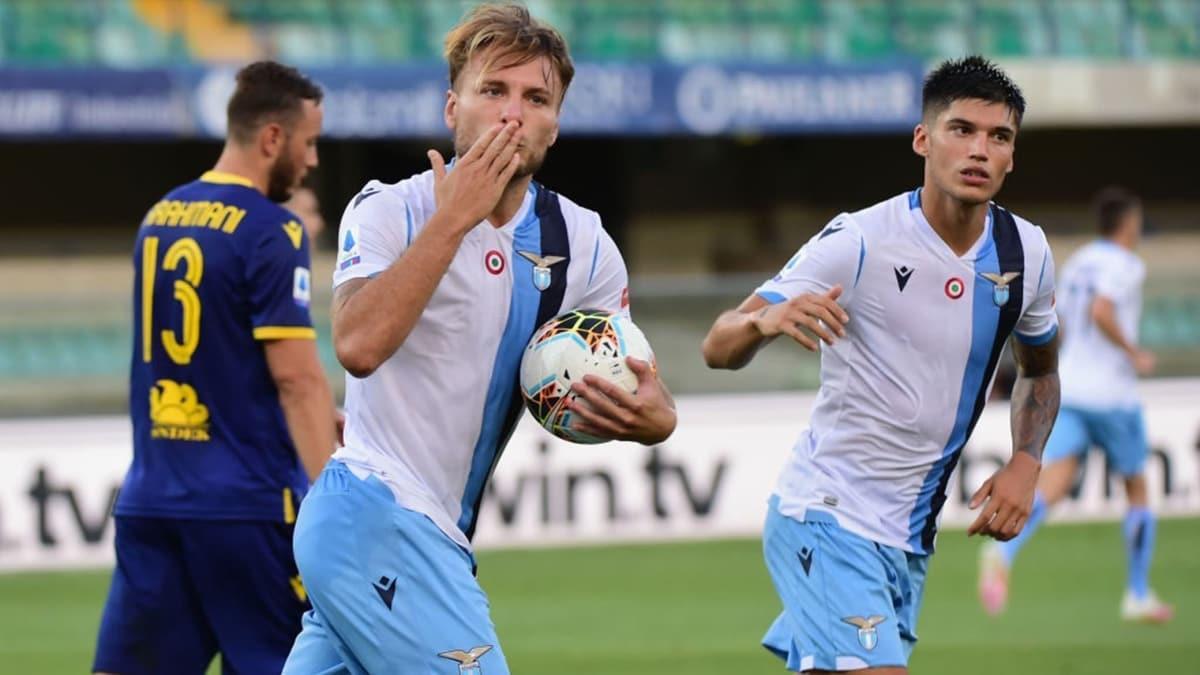 Immobile hat-trick yaptı, Lazio deplasmanda fark attı