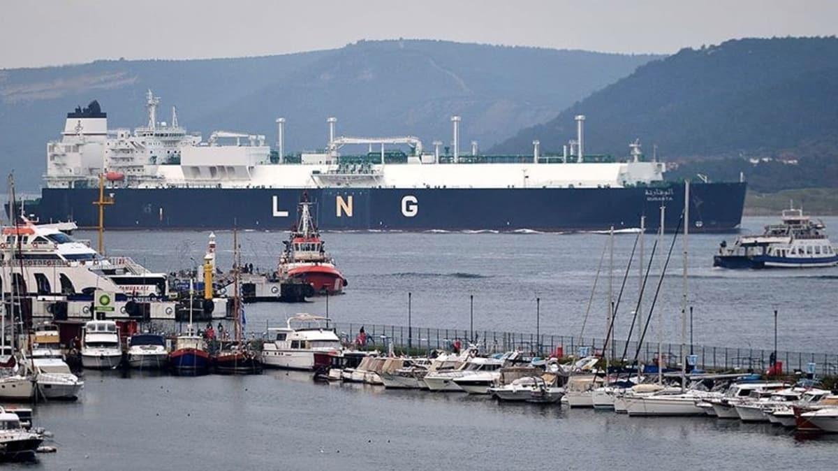 Cezayir'den çıkan LNG gemisi yarın Türkiye'de olacak
