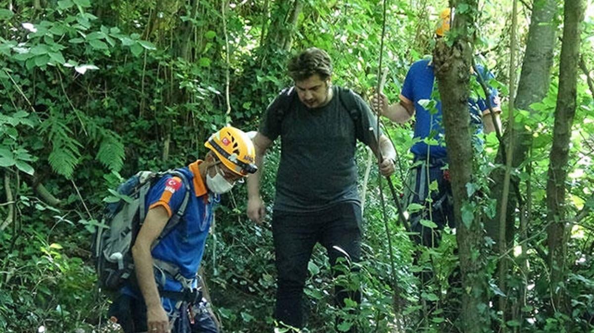 Uludağ'a tırmanan genç yükseklik korkusu nedeniyle mahsur kaldı