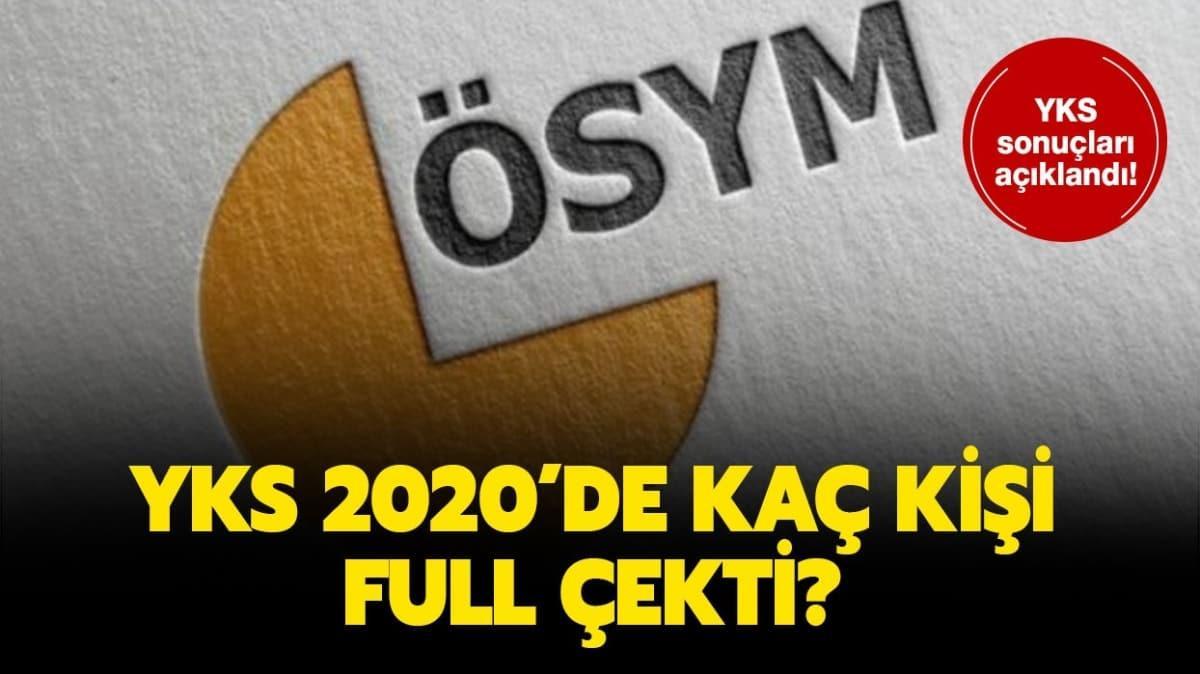 """YKS sınav birincisi kim oldu"""" 2020 YKS'de kaç kişi birinci oldu"""""""