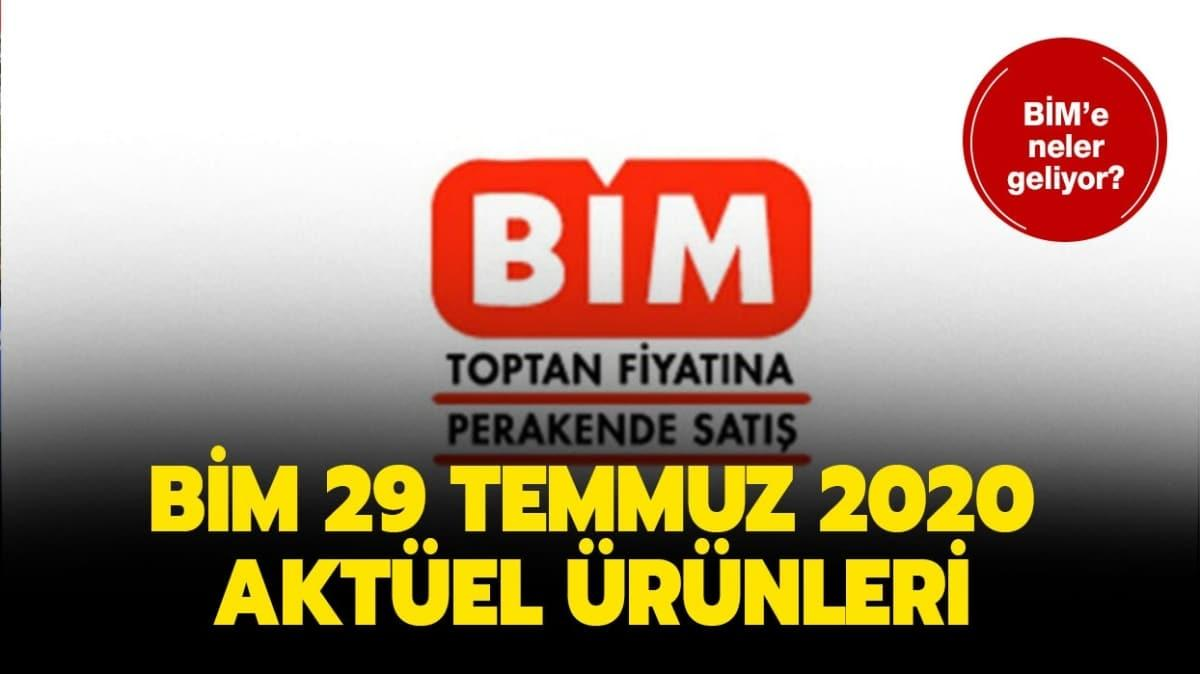 BİM market 29 Temmuz 2020 aktüel ürünler kataloğu yayında!