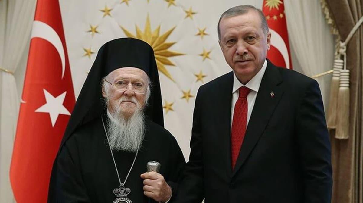 Fener Rum Patriği'nden Başkan Erdoğan'a, teşekkür telefonu