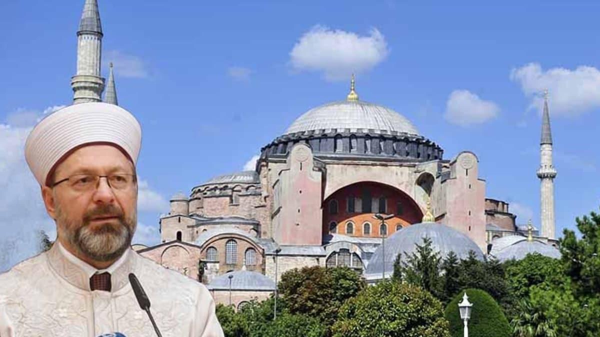 Diyanet İşleri Başkanı Erbaş'tan dini liderlere Ayasofya mektubu