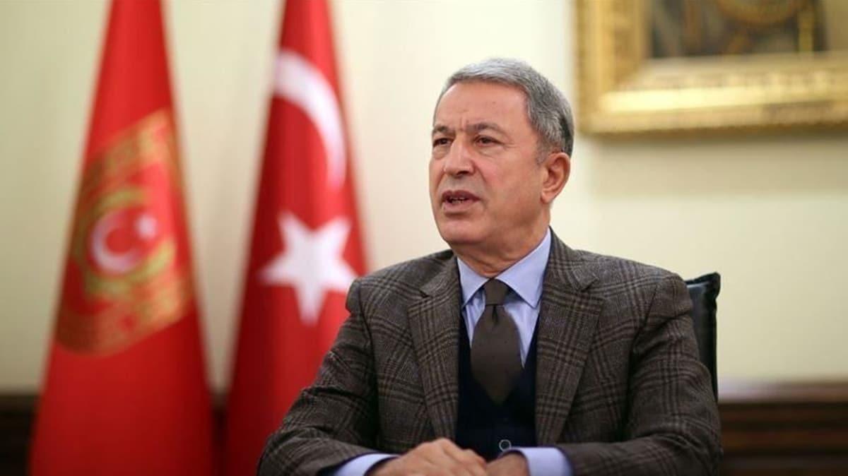Bakan Akar'dan Doğu Akdeniz mesajı: Bu konuda kimse bizi engellemeye kalkmasın