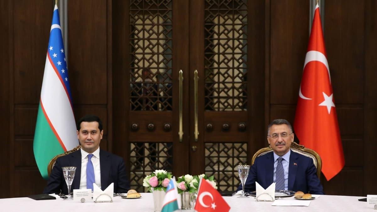 Cumhurbaşkanı Yardımcısı Oktay, Özbekistan Başbakan Yardımcısı Umurzakov'u kabul etti