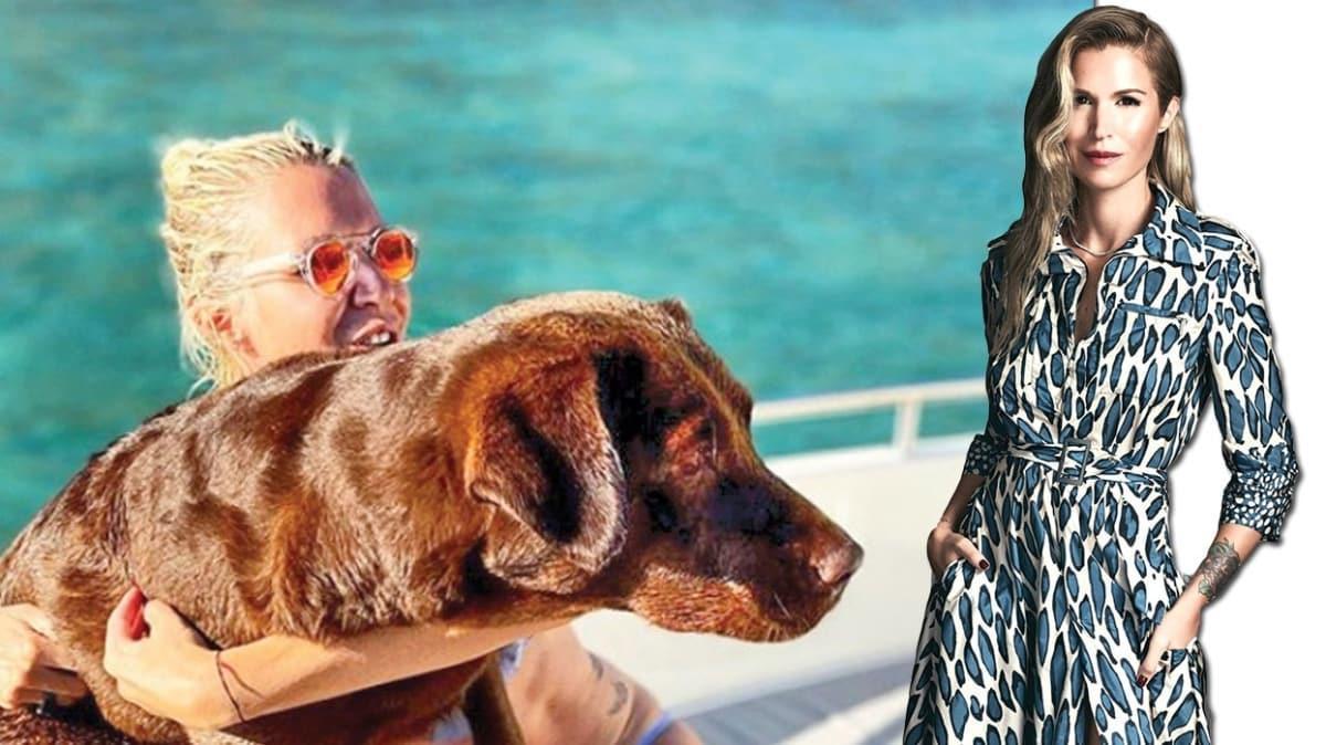 Derin Mermerci sahiplendiği köpeğiyle tatilde