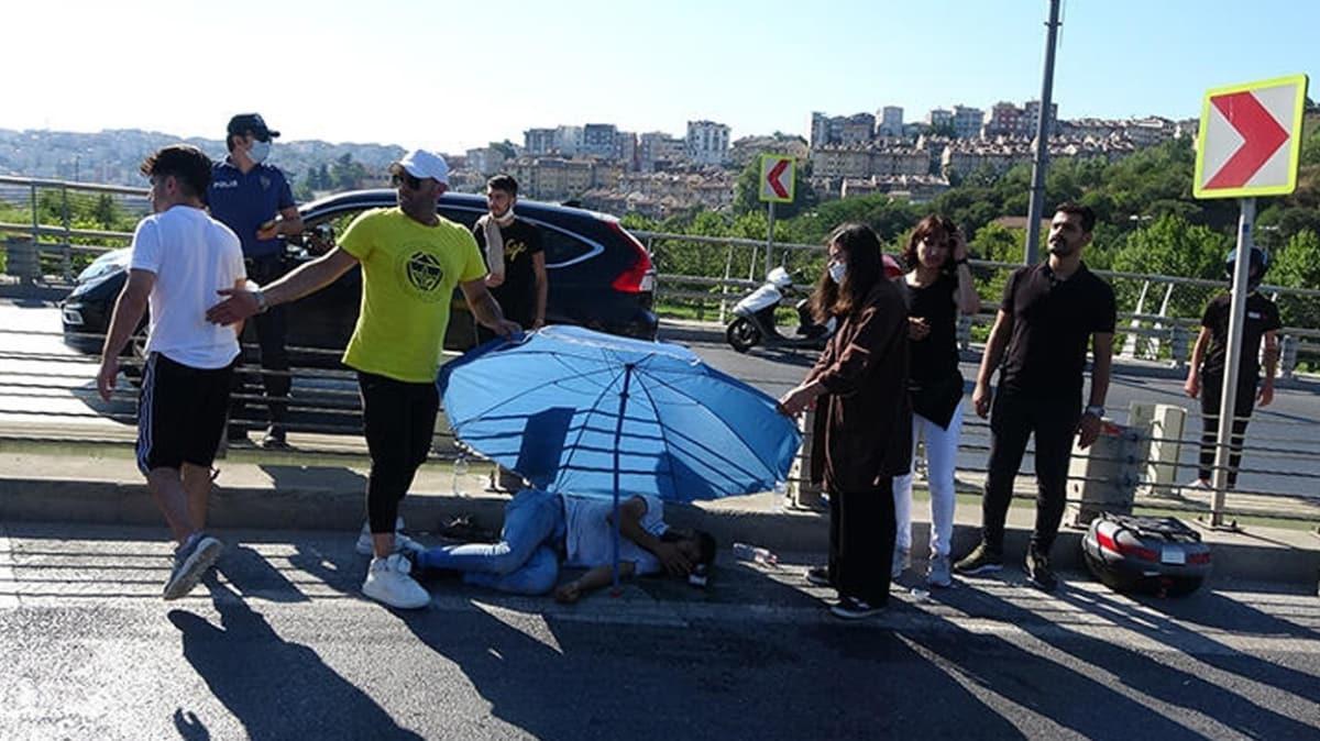 İstanbul'da dehşet: Takip ettikleri motosikletli 2 kişiye otomobille çarpıp kaçtılar