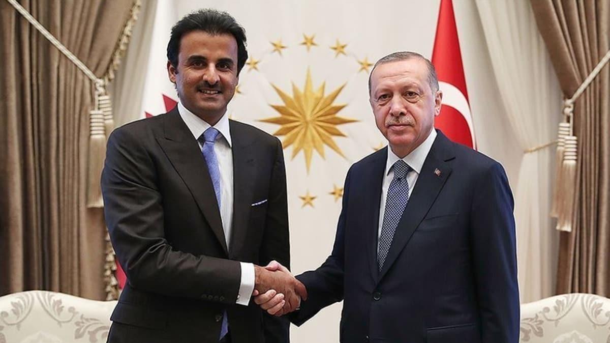 Başkan Erdoğan Katar Emiri ile telefonda görüştü