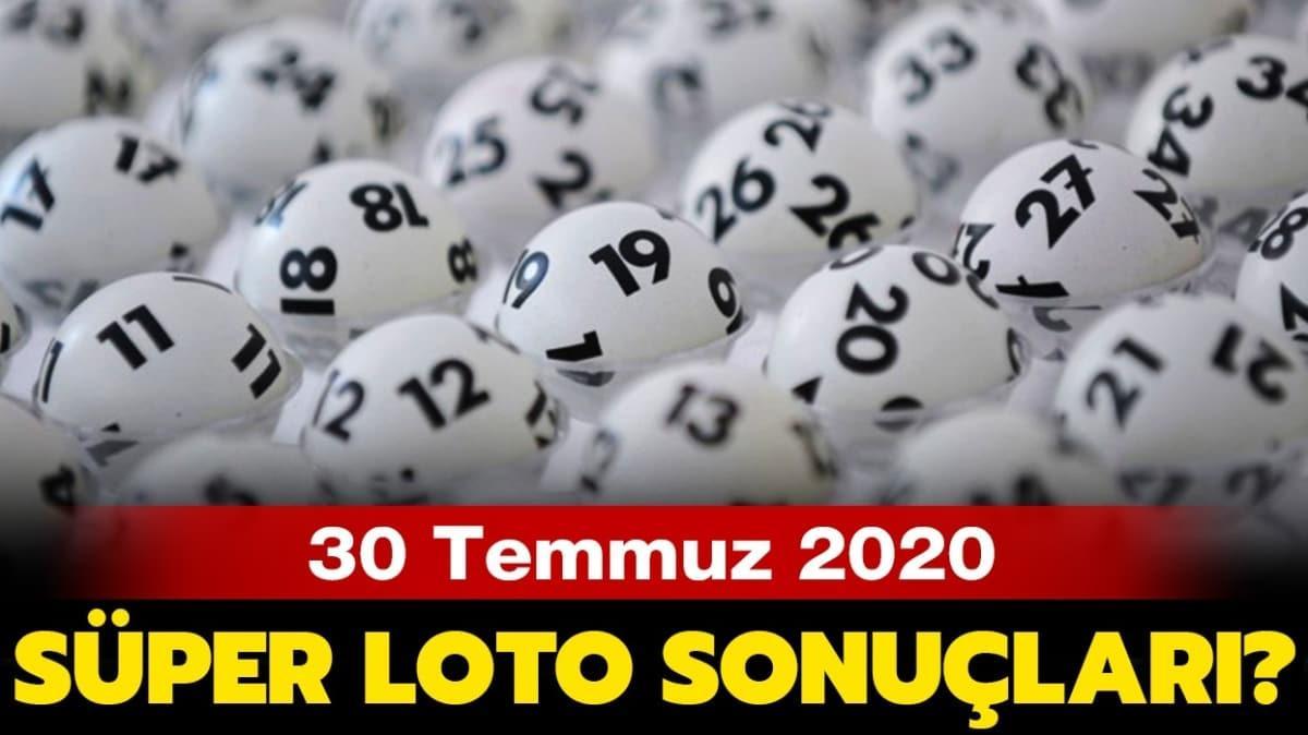 Süper Loto 30 Temmuz 2020 sonuçları