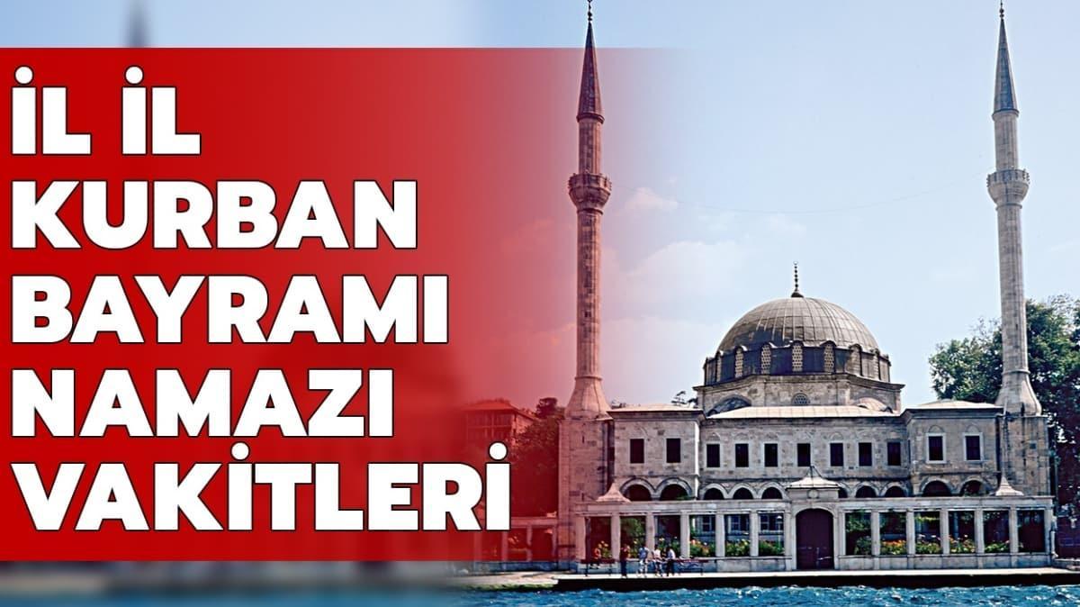"""Diyanet İstanbul, Ankara İzmir bayramı namazı saati 2020! Bayram namazı saat kaçta kılınacak"""""""