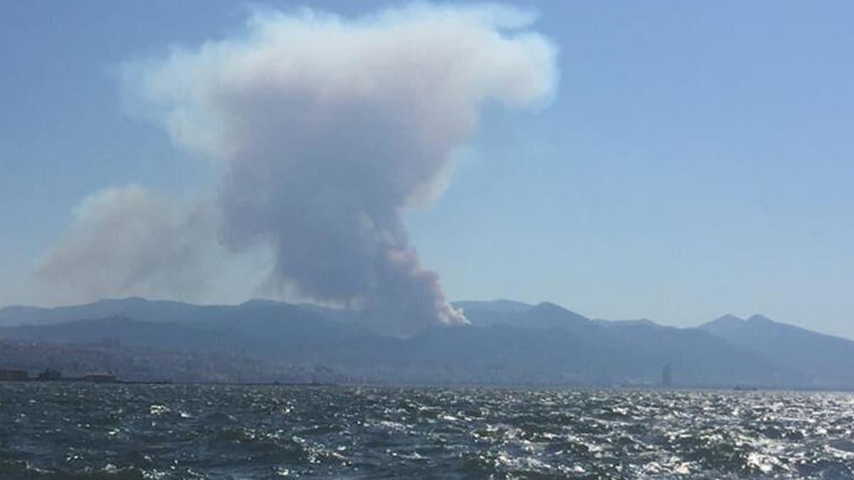 İzmir'de orman yangını: Ekipler bölgede