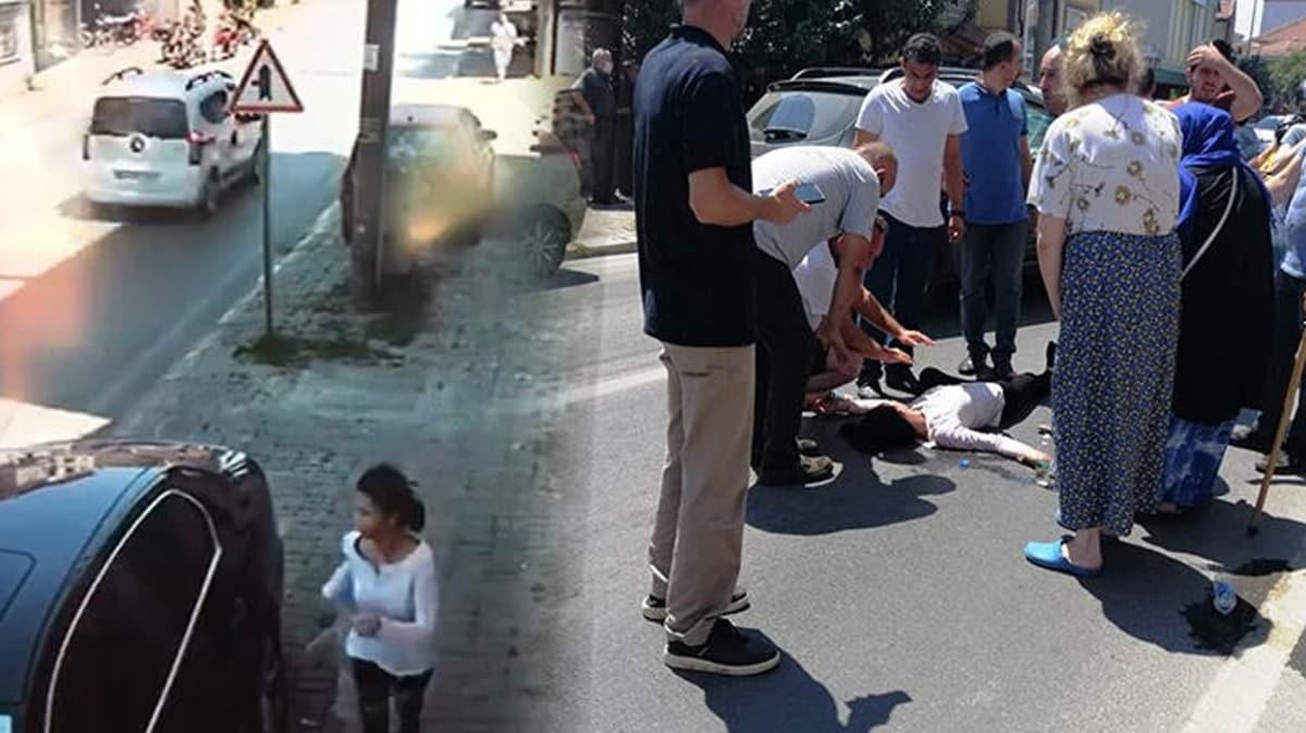 Sakarya'da yürekleri ağza getiren olay: Babasından kaçarken otomobil çarptı