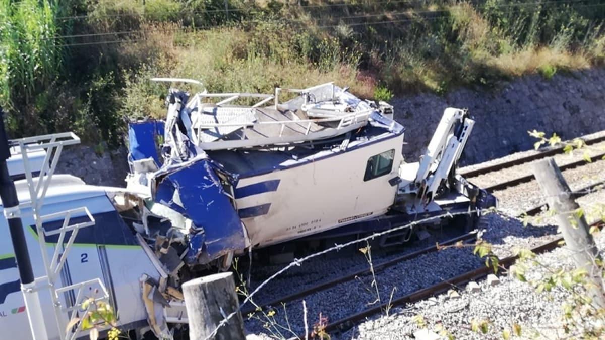 Portekiz'de hızlı tren raydan çıktı... İçinde 282 yolcu vardı!