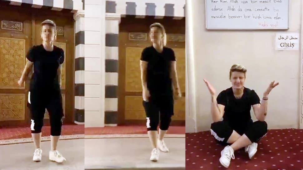 Camiye ayakkabıyla girip TikTok videosu çeken kadın hakkında adli işlem başlatıldı