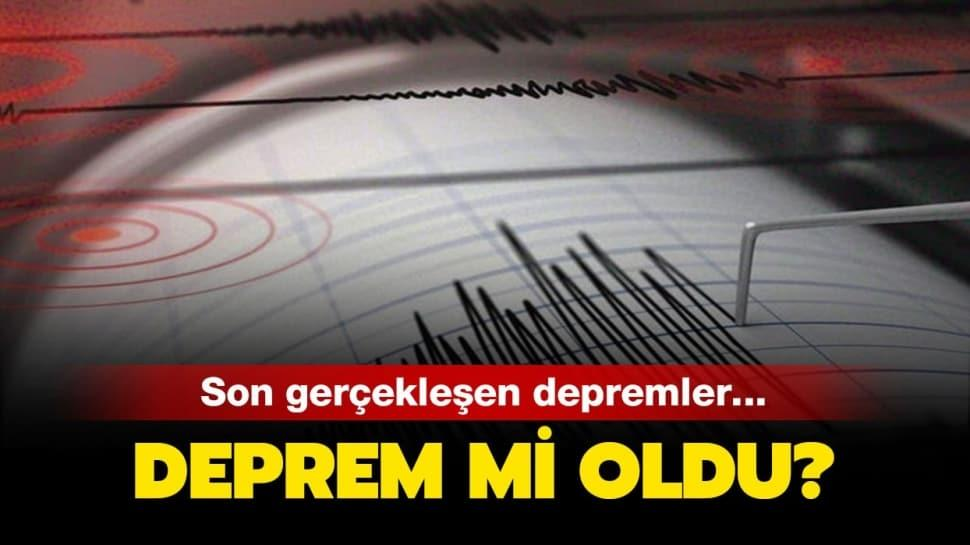 "2 Ağustos Kandilli AFAD son depremler listesi: Deprem mi oldu"""