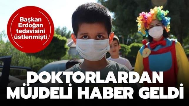 Tedavisinin Başkan Erdoğan'ın üstlendiği Taha'dan mutlu haber