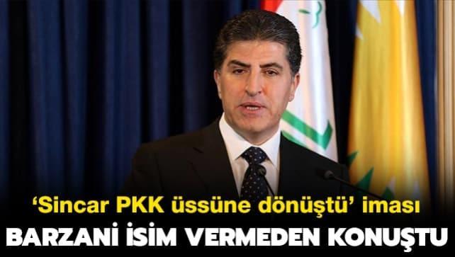 Barzani isim vermeden konuştu