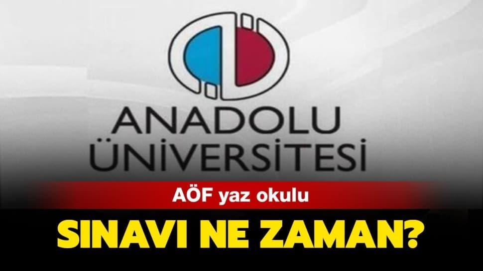 """AÖF yaz okulu sınavı online mı olacak"""""""