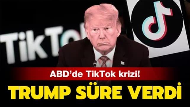 Trump'tan Tiktok hamlesi: Süre verdi