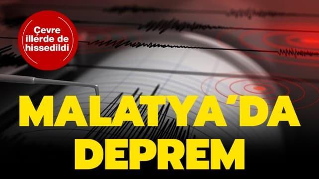 Malatya'da 5.2 büyüklüğünde deprem oldu
