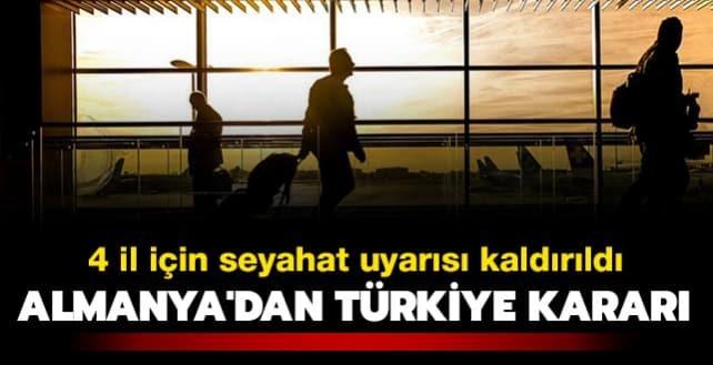 Almanya'dan Türkiye kararı: Seyahat uyarısı kaldırıldı