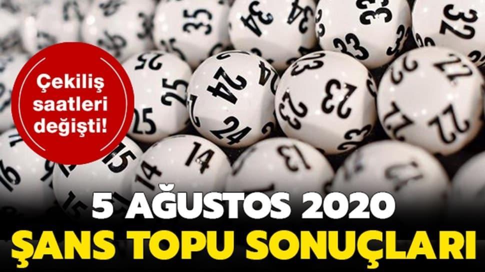 Şans Topu sonuçları 5 Ağustos 2020