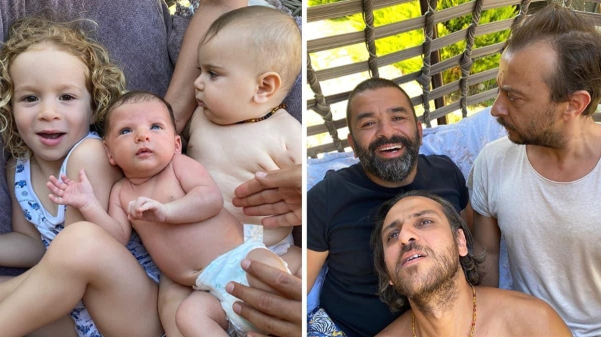 Bülent Şakrak, Erkan Kolçak Köstendil ve Ali Atay'dan oğullarıyla aynı poz